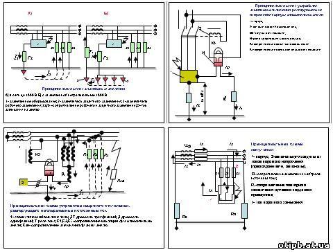 Описание: Электрическая схема щита.
