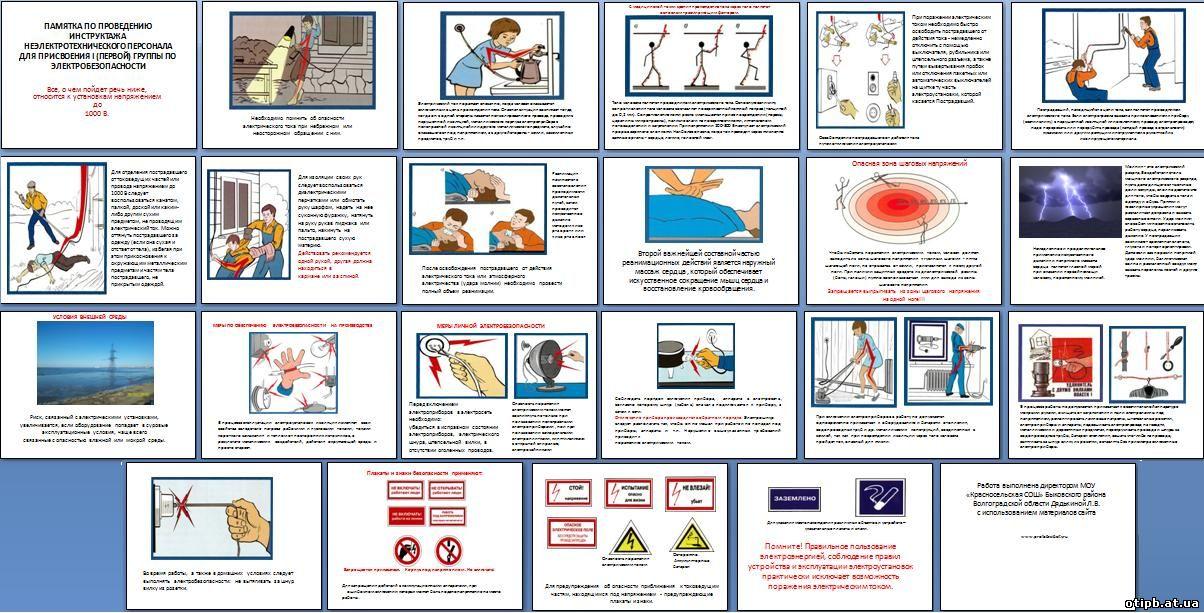 Инструкция по проведению инструктажа неэлектрического персонала